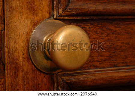 antique door and door knob showing its warm patina