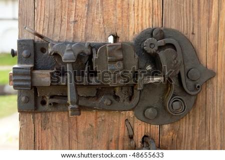 Antique door lock of the monastery, Russia - Antique Door Lock Monastery Russia Stock Photo 48655633 - Shutterstock