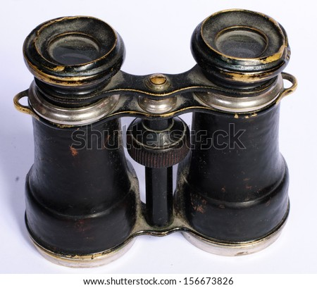 antique field glasses - stock photo