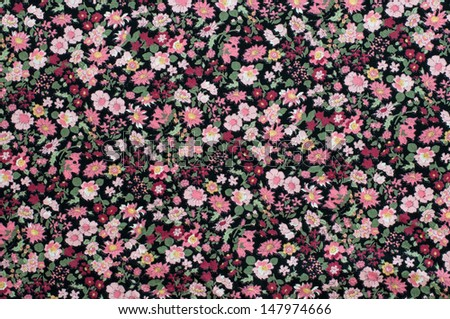 Antique floral fabric pattern useful for textures and background. - stock photo