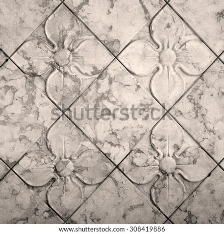antique floral  seamless pattern - stock photo