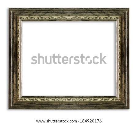 Antique Frame Isolated On White Background - stock photo