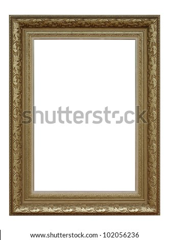 Antique gold frame royals classic style - stock photo