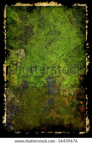 Antique grunge background with frame - stock photo