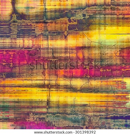 Antique grunge background with space for text or image. With different color patterns: yellow (beige); brown; purple (violet); green - stock photo