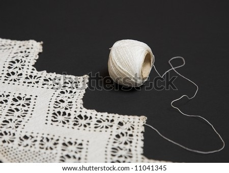 Antique Hand-Made Lace - stock photo