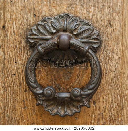 antique handle - stock photo