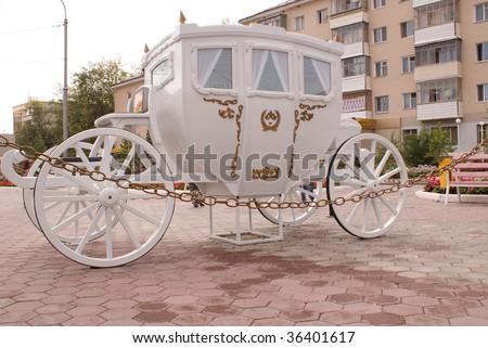 Antique horse carriage. - stock photo
