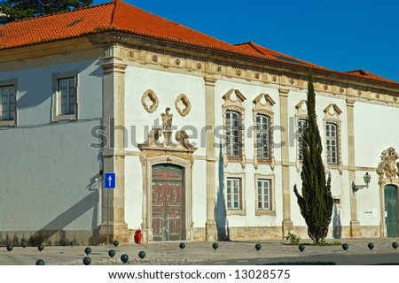 Antique house (construction) in Aveiro downtown, Portugal