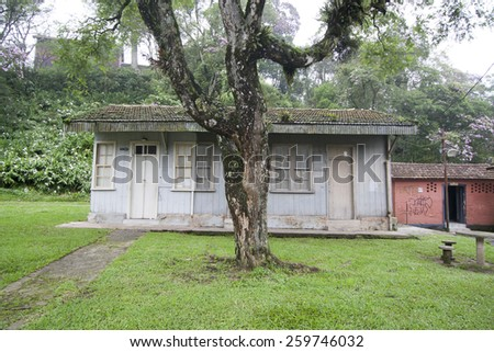 Antique house in Paranapiacaba, Brazil - stock photo