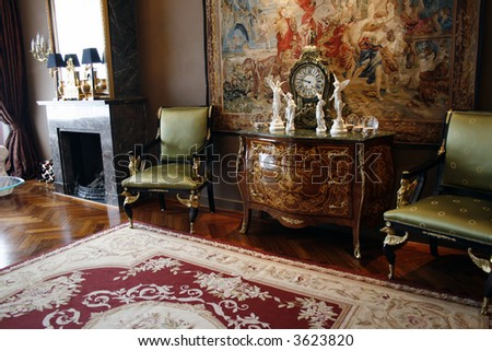 antique interior - stock photo