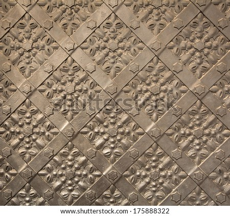Antique iron door texture  - stock photo