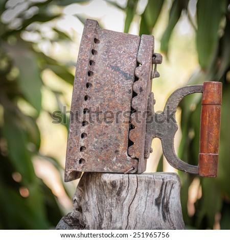 antique iron , Old iron - stock photo