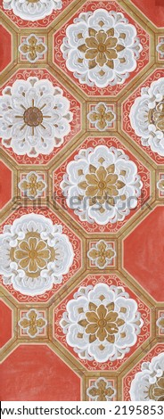 Antique japanese paper pattern - stock photo