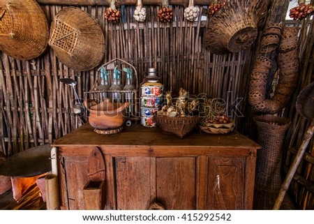 antique kitchenware - stock photo