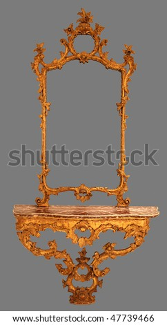 Antique Mirror Frame - stock photo