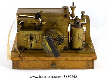 Antique Morse Code Inker As used by Marconi to mark or record Morse code signals on paper - stock photo