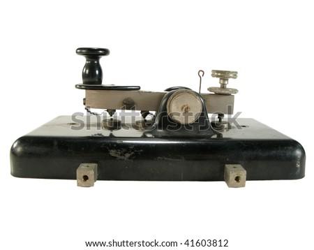 Antique morse key - stock photo