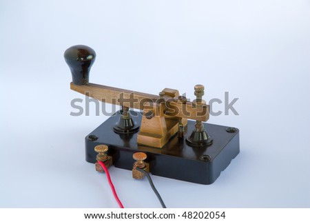Antique morse key - stock photo