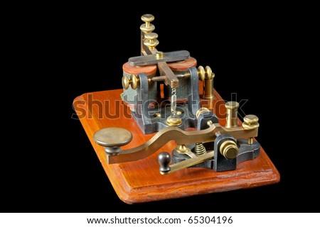 Antique Morse Key (c 1860) - stock photo
