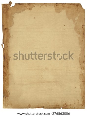 Antique notebook paper texture background
