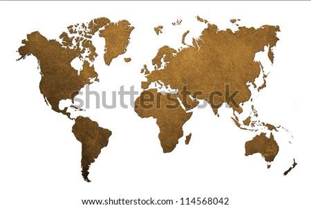 Antique of World MAP Design Concept - stock photo