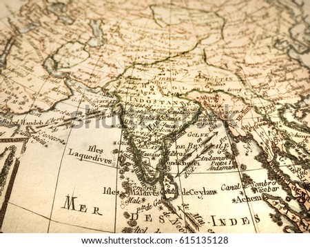 Antique old map india stock photo royalty free 615135128 antique old map india gumiabroncs Gallery