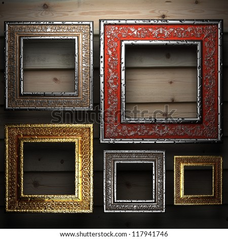 Antique ornament frame made in 3d - stock photo