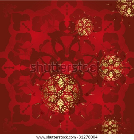 Antique ottoman turkish illustration design