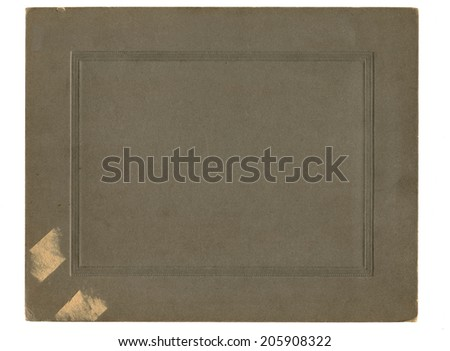 Antique paper photograph cover background - stock photo