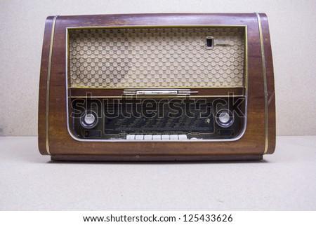 Antique radio - stock photo