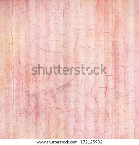 Antique Rose Cracked Linen Background - stock photo