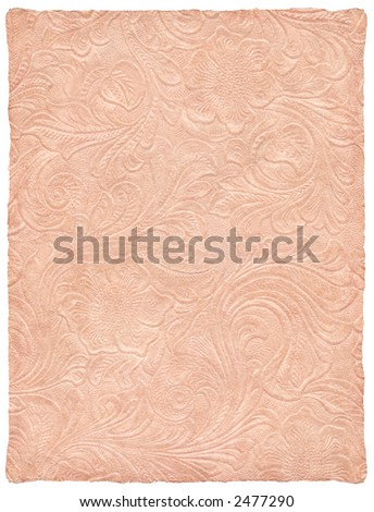 Antique Rose Embossed Parchment - stock photo