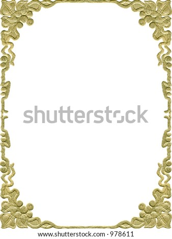 Antique scroll frame design. From the early 1900's. Grunge intact. - stock photo