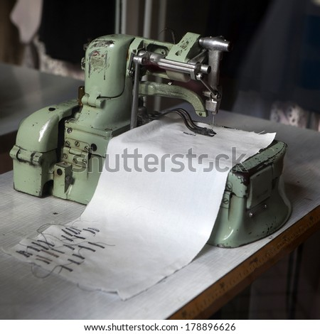 Antique Sewing Machine - stock photo
