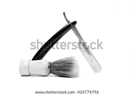 Antique Shaving - stock photo