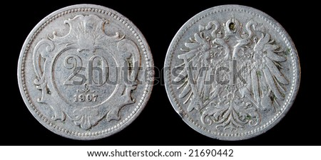 Antique silver ruble