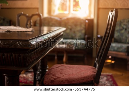 Classic Room Interior. Victorian Furniture For Sale.