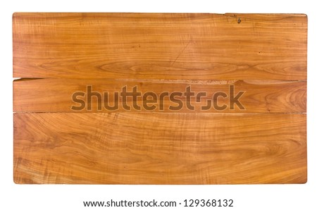Antique tabletop made of cherry wood - stock photo