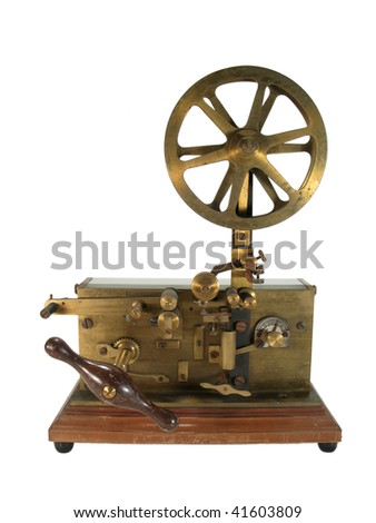 Antique telegraph isolated - stock photo