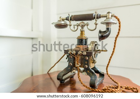 Antique telephone vintage style