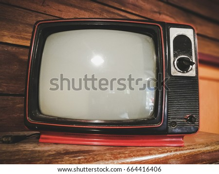 Antique television in vintage style