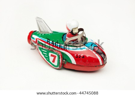 antique tin toy - stock photo