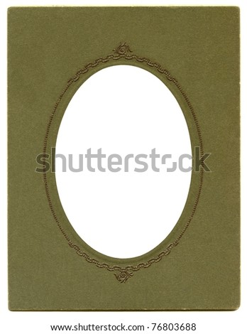 Antique Tintype Oval cardboard Frame - stock photo