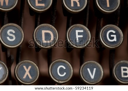antique typewriter details