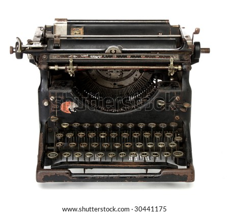Antique typewriter, from my retro revival series - stock photo