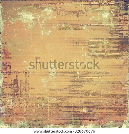 Antique vintage background. With different color patterns: yellow (beige); brown; gray - stock photo