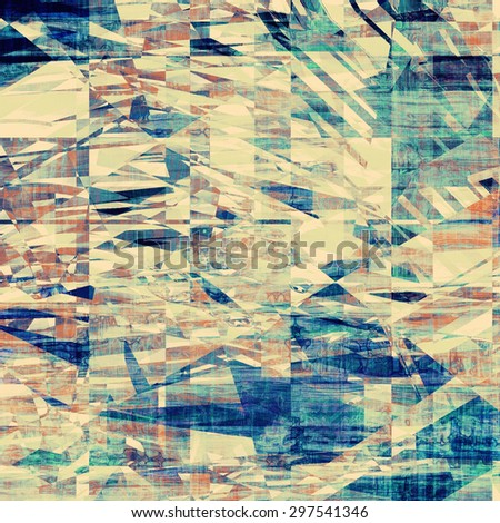 Antique vintage texture, old-fashioned weathered background. With different color patterns: yellow (beige); brown; blue; cyan - stock photo