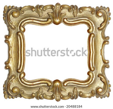Antique Wood Carved Baroque Gold Frame Stock Photo (Royalty Free ...