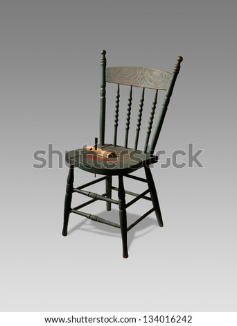 Antique wooden chair  isolated